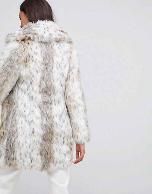 345fc53e27aa New Look faux fur snow leopard coat in 2018 | Things Laura Likes ...