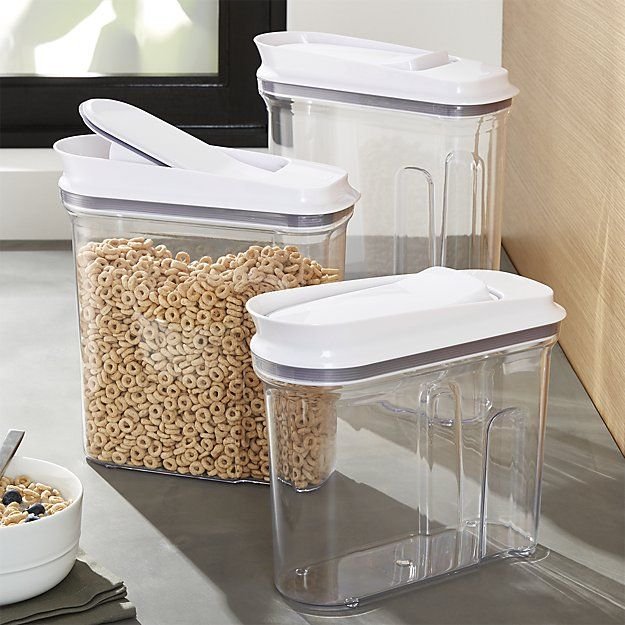 OXO ® Pop Cereal Dispensers   Crate and Barrel