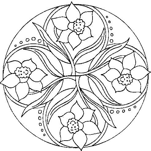 desenho de mandala para colorir                                                                                                                                                      Mais