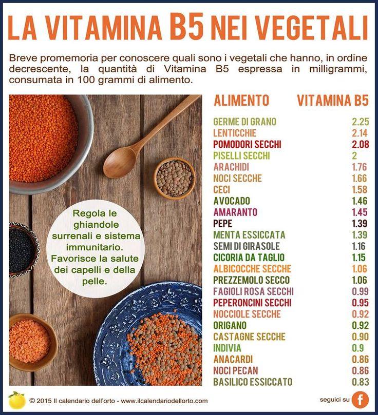 La vitamina B5 nei vegetali