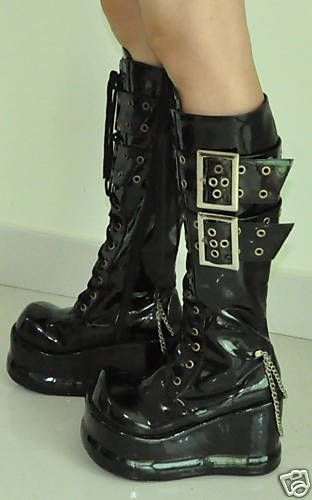 Lolita gothic platform buckle Cosplay shoes punk boots