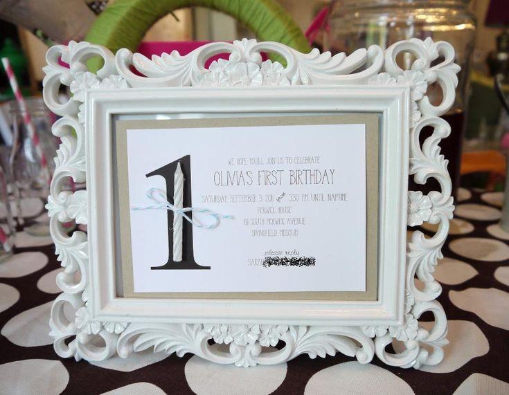 adorable 1st birthday invitation