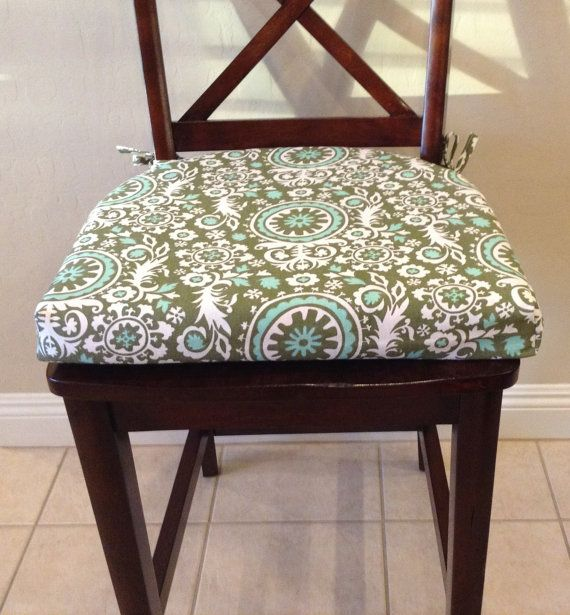 seat cushion cover kitchen chair pad cover by brittaleighdesigns. beautiful ideas. Home Design Ideas