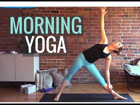 Morning Vinyasa Yoga Class For Hip Flexibility & Energy - YouTube