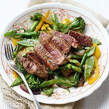 Biefstuk met wokgroenten, event met extra champignons! Kan ook met kant en klaar…