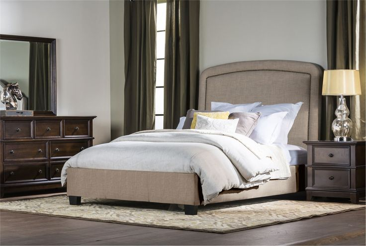 Jude Cal King Upholstered Platform Bed Bedroom: california king platform bed