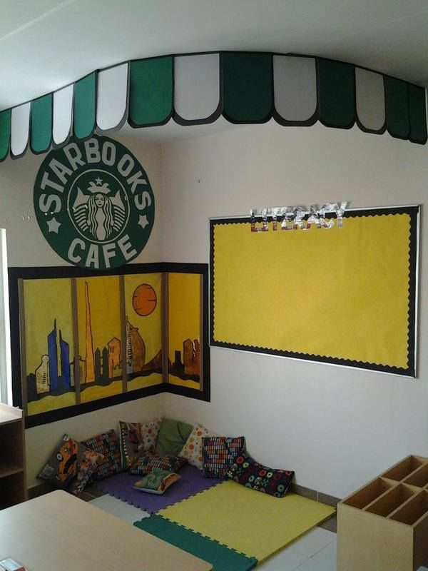 Starbooks Cafe reading corner - inspired!