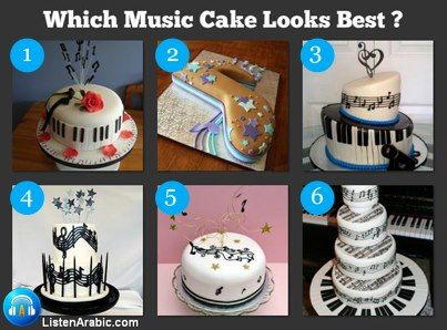 Which Music Cake looks Best ?  we know they all look yummy...but vote for the best cake design.