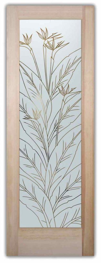 Front door with Glass u2013 Bird of Paradise Pinstripe & 45 best Frosted Glass Doors images on Pinterest | Frosted glass door ...
