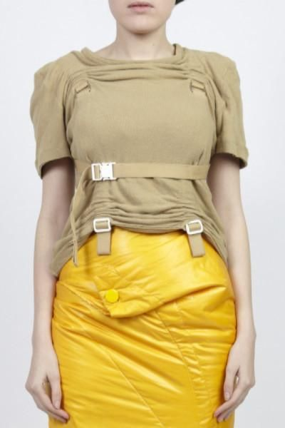 COMME des GARÇONS Junya Watanabe beige parachute harness top top from the 2003 Spring/Summer collection.