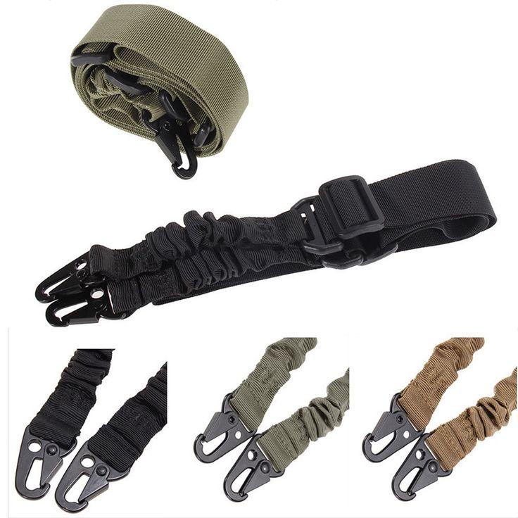 Nieuwe Verstelbare Militaire Zware Nylon Duty Gun Riem Tactische twee Punten Sling Outdoor Airsoft Mount Bungee Rifle Sling