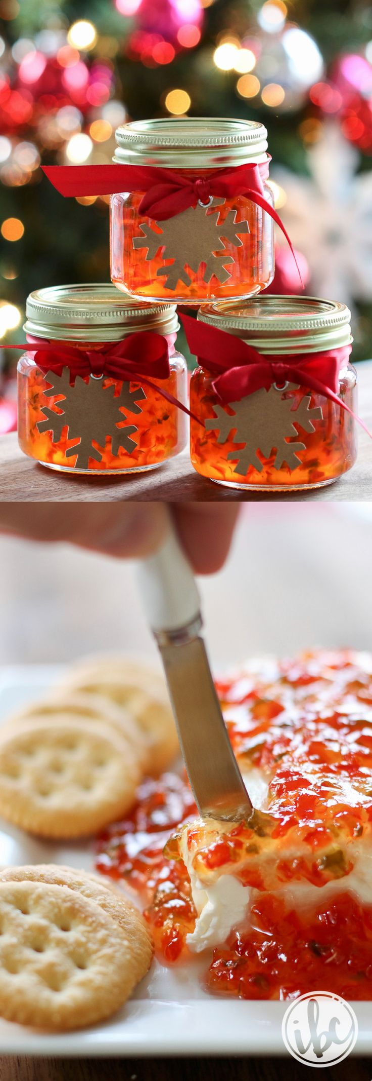Red Pepper Jelly - homemade holiday gift PLUS easy impromptu Christmas appetizer recipe