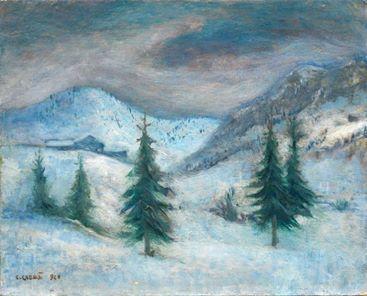 Carlo Carrà - Nevicata, 1940