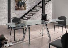Table Extensible en Verre Trempé : Modèle TROY