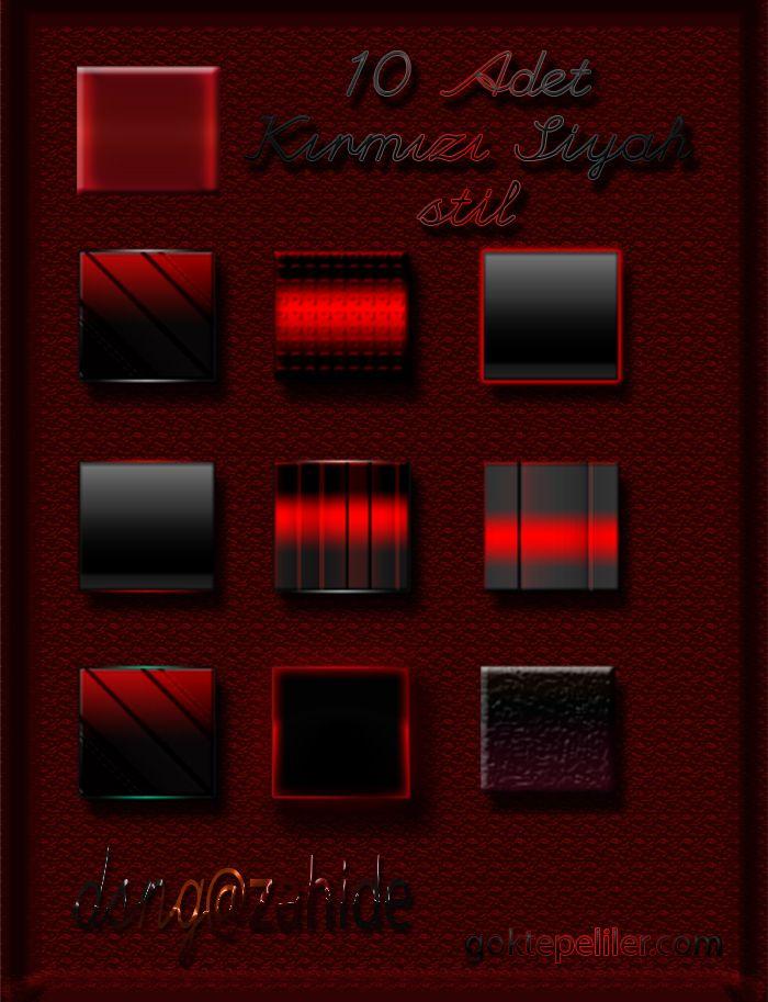 Фотошопа для красный стиль