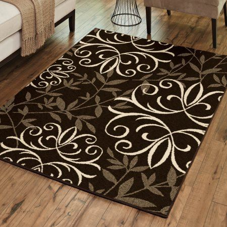 Better Homes And Gardens Iron Fleur Area Rug Or Runner Brown