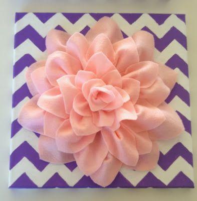 MOM-B-A DIY Project: Felt Flower on Canvas - full detailed instructions!!!