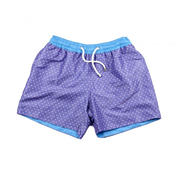 MARBELLA POLKA SHORTS | Our Marbella polka shorts are the perfect party or pool side fashion item for men who love to stay on-trend. These men's designer shorts are named after and inspired by the iconic party destination of Marbella. Shop the collection at thomasroyall.com