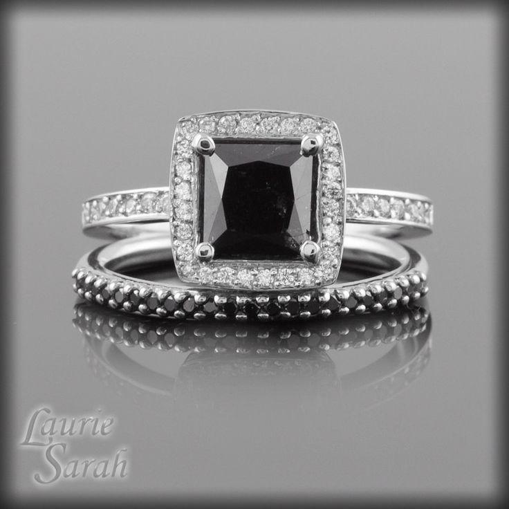 best 20 black diamond wedding sets ideas on pinterest black engagement rings black diamond wedding rings and black wedding rings