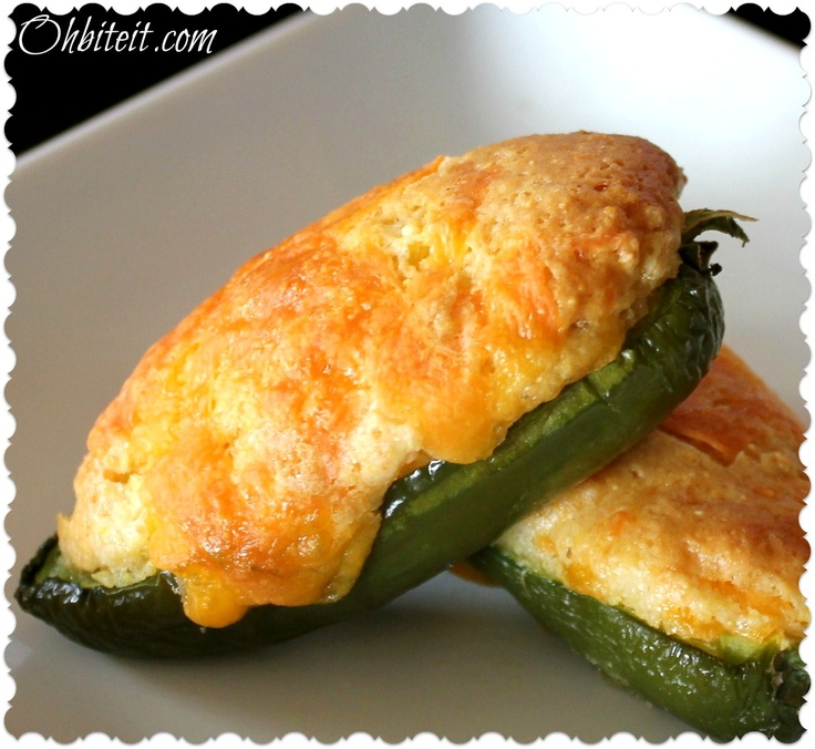 JALAPENO CORNBREAD POPPERS         12  Med/Large fresh Jalapenos  1 Box of Cornbread Mix (I used the Honey variety for the sweetness)  1 1/2 Cup Shredded Cheddar (1 cup for the batter..1/2 cup for sprinkiling)  1 Cup Corn