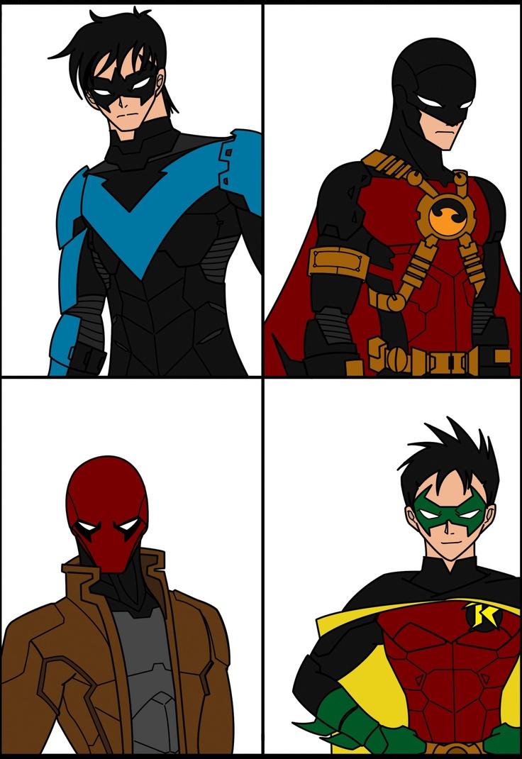 Nightwing, Red Hood, Red Robin, Robin | Nightwing/Redhood ... Nightwing And Red Robin
