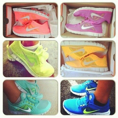 I want new bright colored Running Shoes!