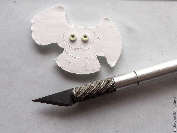 Создаём кулон из полимерной глины в виде белой полярной совы - Ярмарка Мастеров - ручная работа, handmade