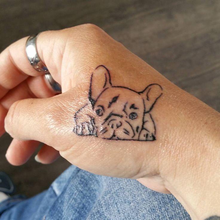 Frensh bulldog tattoo