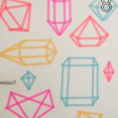 Washi Tape Wall Art {Wall Art}