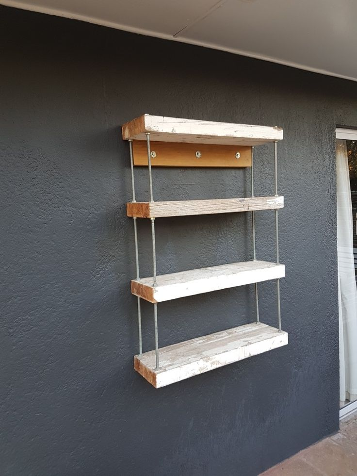 Outdoor floating shelving