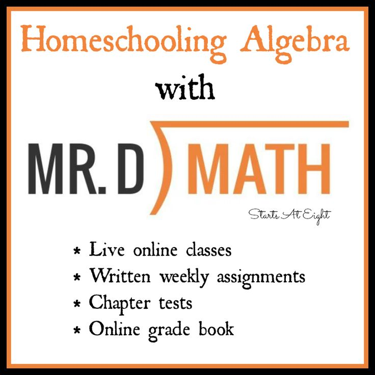 Homeschooling Algebra with Online Math Courses. Using Mr. D Math is a great way to cover middle & high school math without having to teach it yourself.