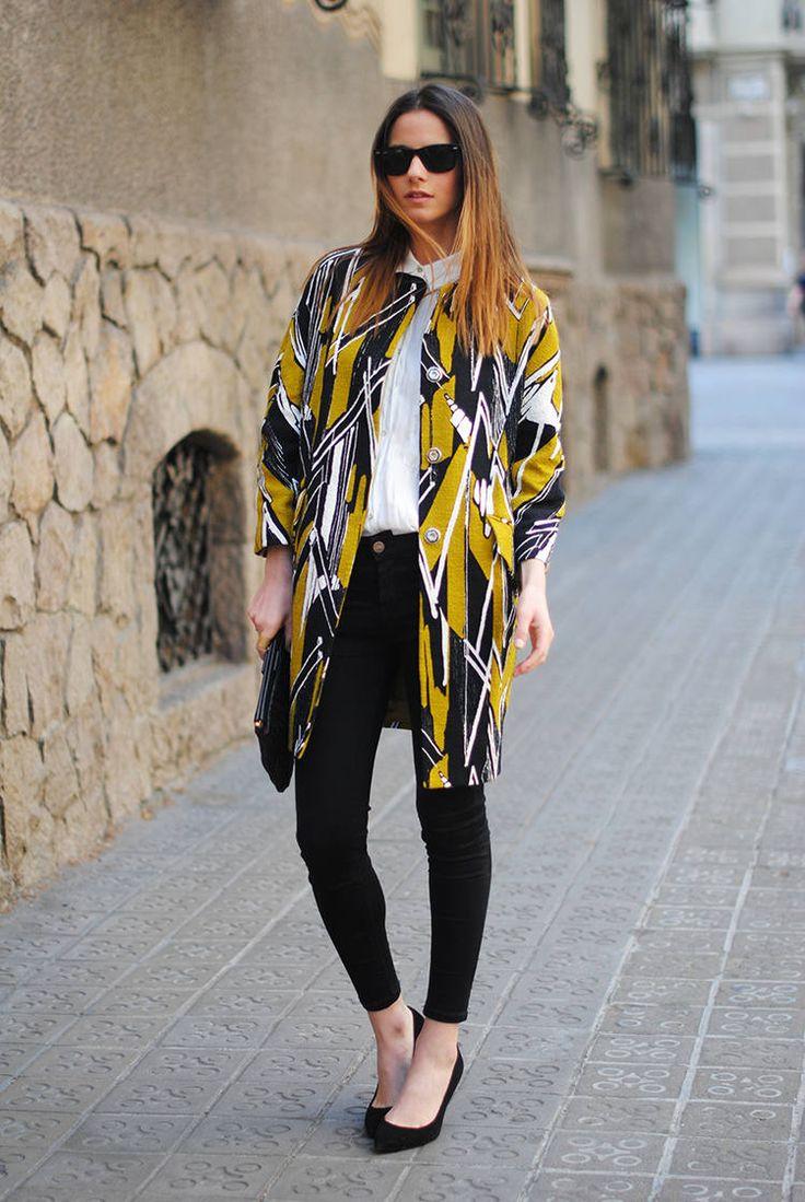Bimba Y Lola Coat ( Jeans & Flats ) with Zina Charkoplia