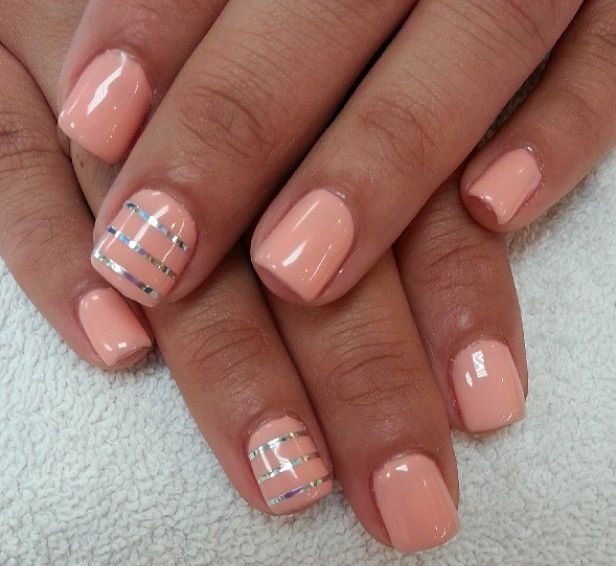 15 Must-see Peach Colored Nails Pins