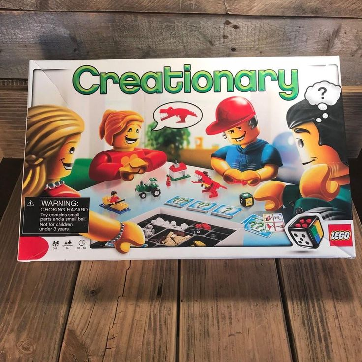 100% COMPLETE GENTLY USED LEGO CREATIONARY BUILDING GAME BRICKS RETIRED 3844 #Lego