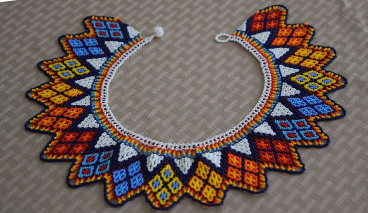 Colombian Glass Bead Necklace (BN541) | Little Colibri