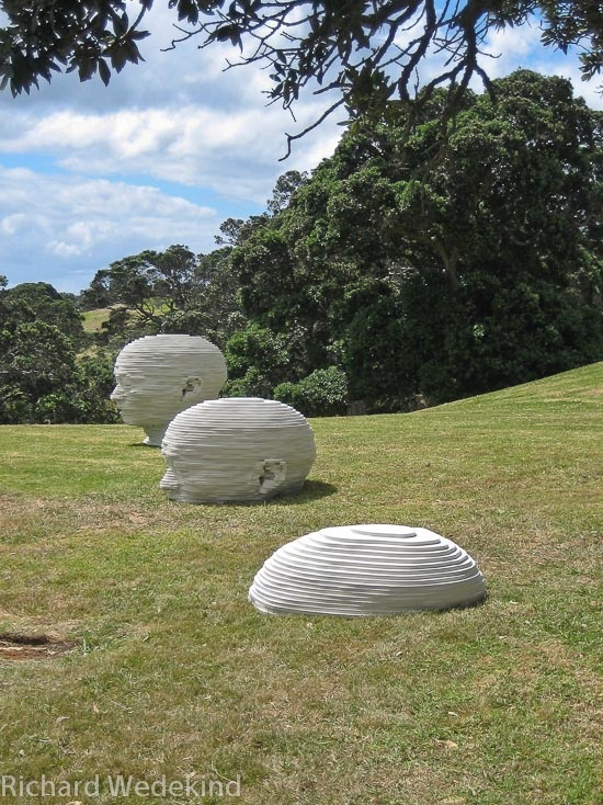 Learning to breathe under water: Sculpture on the Gulf 2009, Waiheke Island. Private collection.