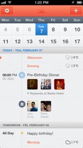 Sunrise Calendar App iOS
