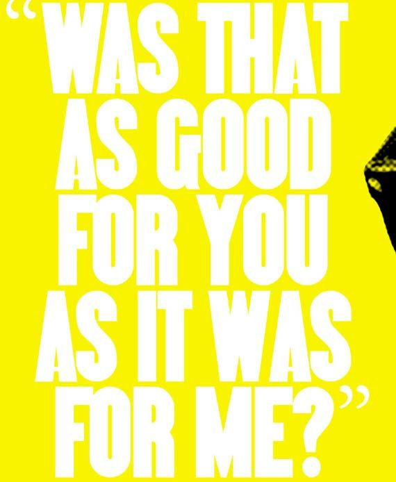 Mr. Blonde RESERVOIR DOGS Quote Poster