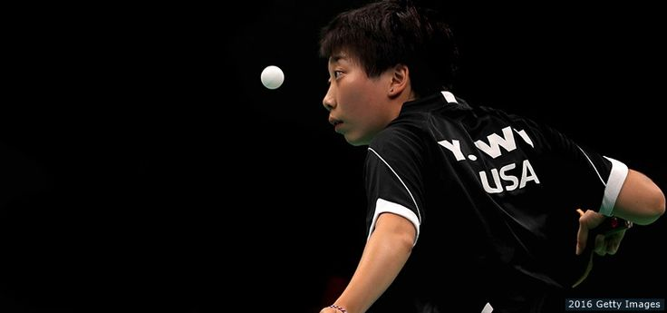 Yue Wu, Table Tennis  -     Yue Wu plays a women's singles table tennis first round match against  Eva Odorova of Slovakia at the Rio 2016 Olympic Games at Riocentro Pavilion 3 on Aug. 6, 2016 in Rio de Janeiro.