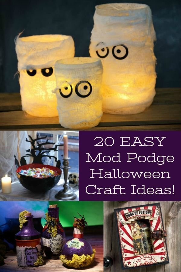 20 Easy Mod Podge Halloween Crafts You\u0027ll Want to Make Celebrate - fun and easy halloween decorations