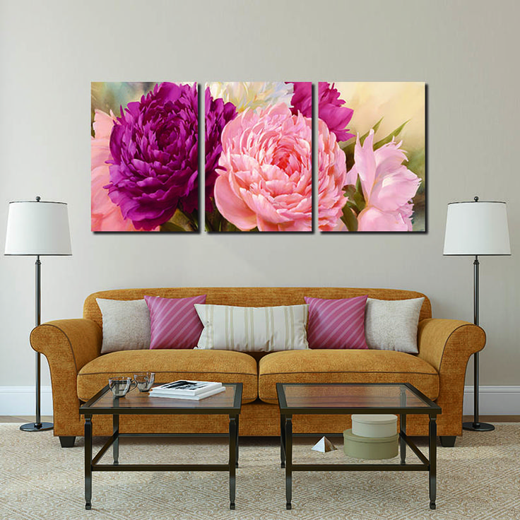 Cheap art painting lessons, Buy Quality arts and crafts print directly from China art contemporary painting Suppliers: 3 Panel Pictures Canvas Painting peony Flower Painting Wall Art Decorative Canvas Wall Art Modular Picture(Unframed)