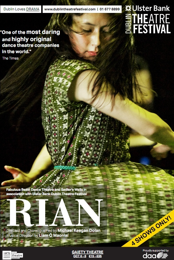 DAA was a Principal Sponsor of the 2011 Dublin Theatre Festival, and sponsored RIAN at the festival. DAA is also proudly supporting this year's Dublin Theatre Festival.