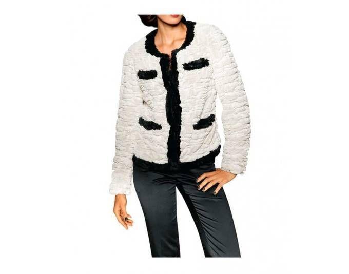 Ashley Brooke Damen Designer-Webpelzjacke, offwhite-schwarz Jetzt bestellen unter: https://mode.ladendirekt.de/damen/bekleidung/jacken/sonstige-jacken/?uid=3f0c0c1b-0d2d-58e3-95b7-ecd0377f8d68&utm_source=pinterest&utm_medium=pin&utm_campaign=boards #sonstigejacken #bekleidung #jacken