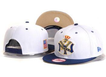 Casquette NY New York Yankees MLB Snapback World Series Blanc Marine Casquette New Era Pas Cher