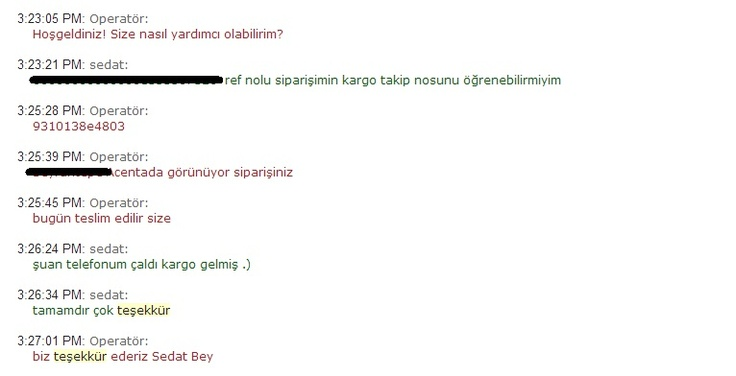 Tamamdır çok teşekkürler Hammaddeler.com Sedat A.