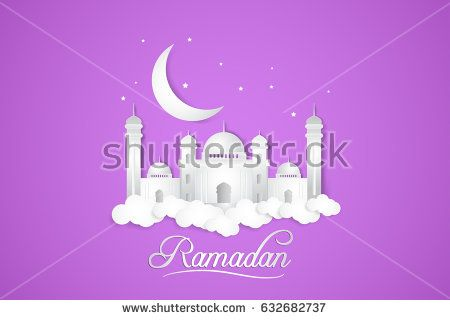 Ramadan Kareem. Islamic vector design for greeting card