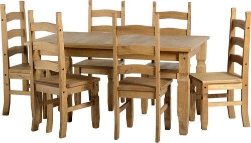 Corona, fixed dining  Set , 6 Chairs