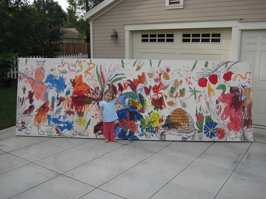 Kid's Birthday Painting Party -That's an awesomely fun idea!