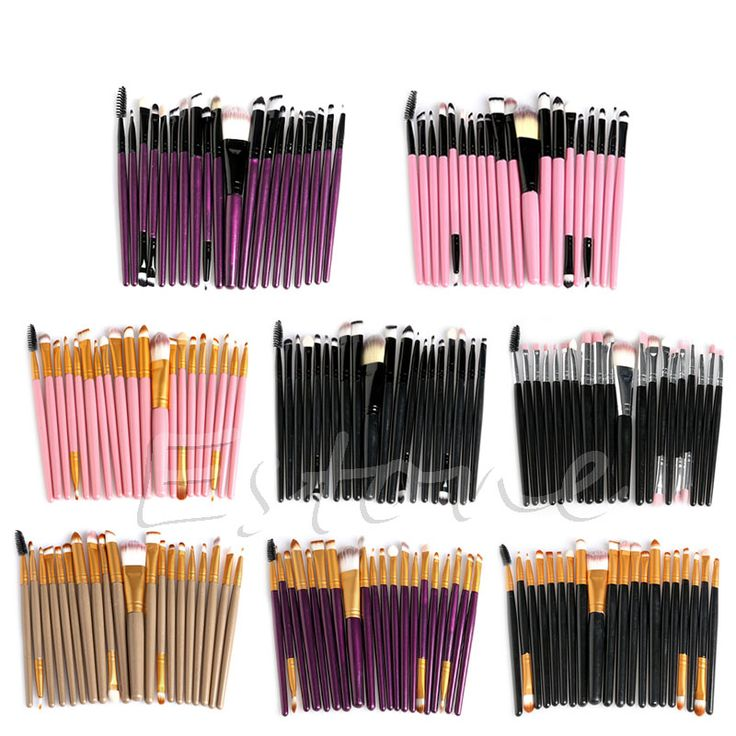 20Pcs Cosmetic Brushes Pro Powder Foundation Eyeshadow Eyeliner Lip Makeup Set Makeup Eyeshadow Foundation Concealer Brushes * Click the image for detailed description