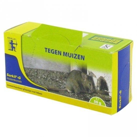 Sorkil-G 25 gram tegen muizen. Heerlijke graantjes.. http://www.waltox.nl/edialux-sorkil-g-muizengif-25-gram.html